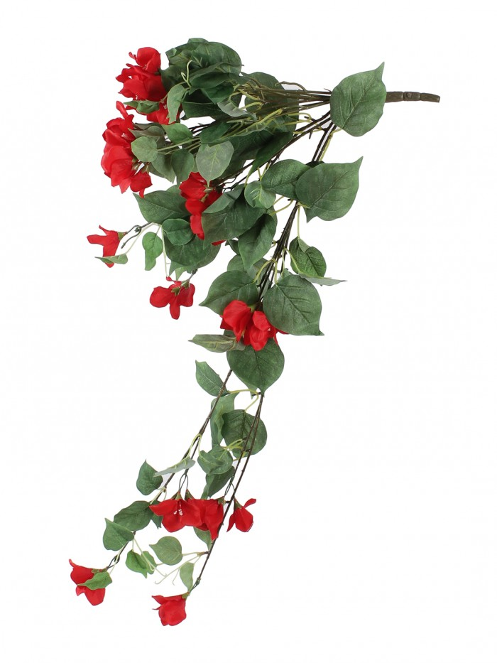 Buy Beautiful Red Artificial Beautiful Bougainvillea Flower Bush & 32 Inch Online