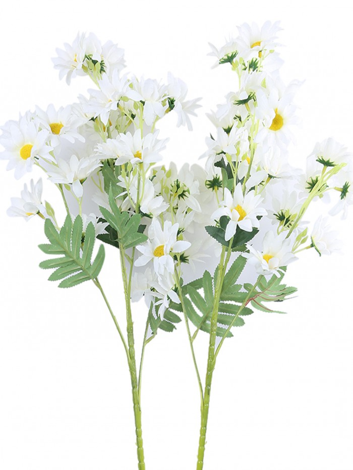 Buy Artificial Daisy Flower Stems (80 Cm Tall, 5 Branches, Set Of 2) Online