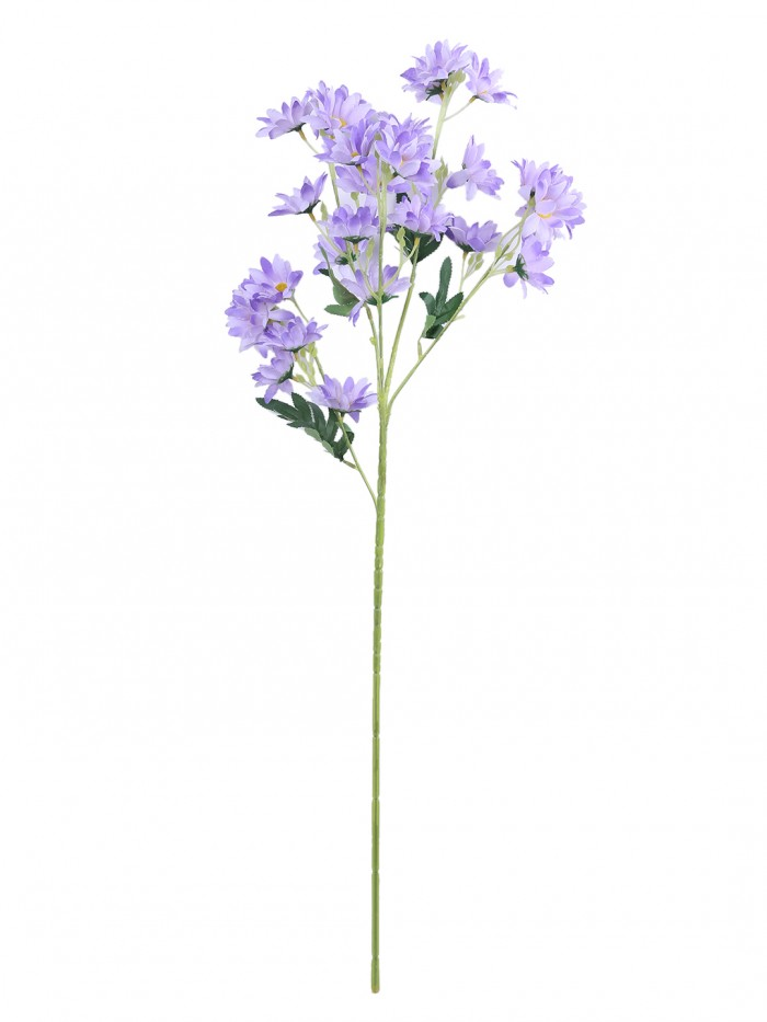 Buy Artificial Daisy Flower Stems (80 Cm Tall, 5 Branches, Blue, Set Of 2) Online