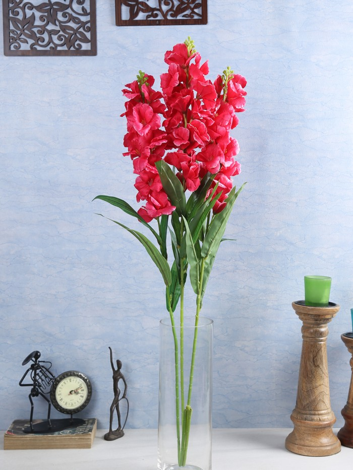 Buy Artificial Gorgeous Jasmine Flower Sticks (90 Cm Tall, Dark Pink, Set Of 4) Online