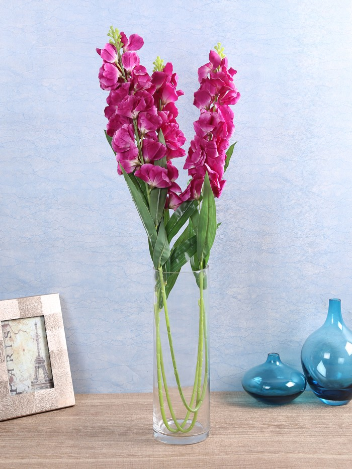 Buy Artificial Gorgeous Jasmine Flower Sticks (90 Cm Tall, Purple, Set Of 4) Online