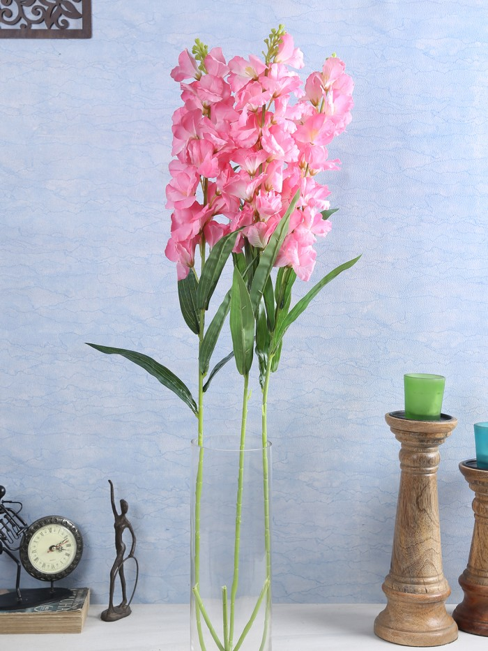 Buy Artificial Gorgeous Jasmine Flower Sticks (90 Cm Tall, Pink, Set Of 4) Online