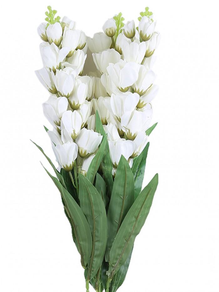 Buy Artificial Gorgeous Jasmine Flower Sticks (90 Cm Tall, White, Set Of 4) Online