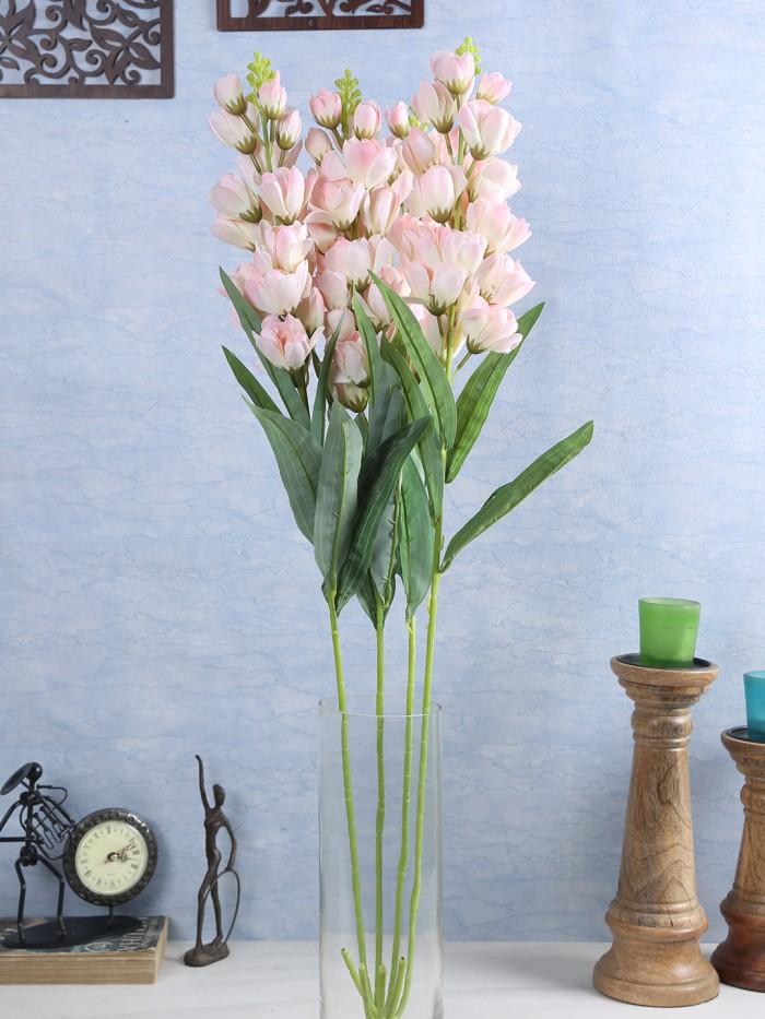Buy Artificial Gorgeous Jasmine Flower Sticks (90 Cm Tall, Peach, Set Of 4) Online