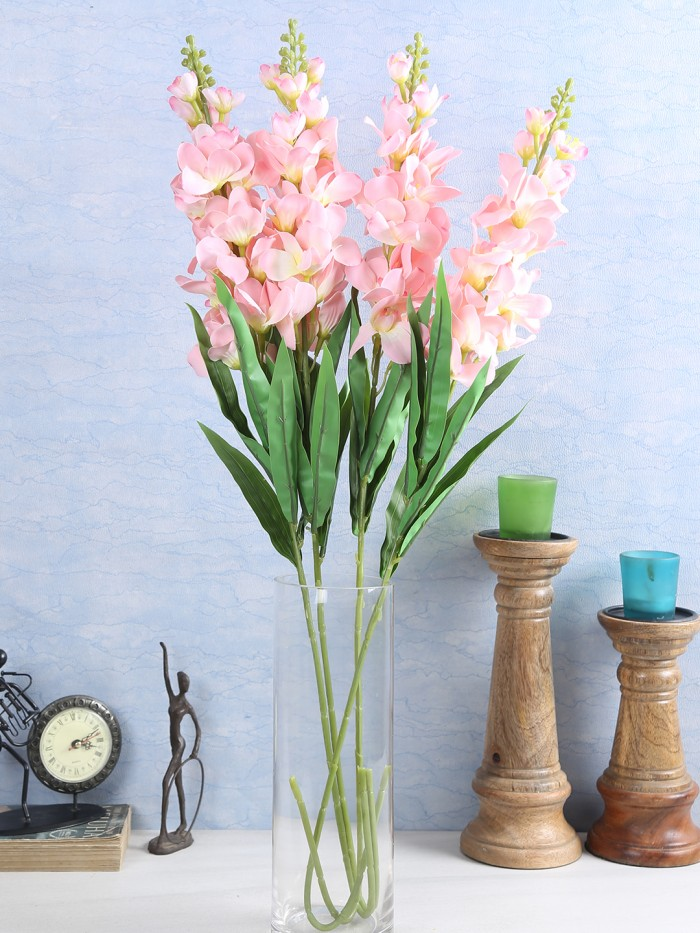 Buy Artificial Gorgeous Jasmine Flower Sticks (90 Cm Tall, Peach, Set Of 4) Online