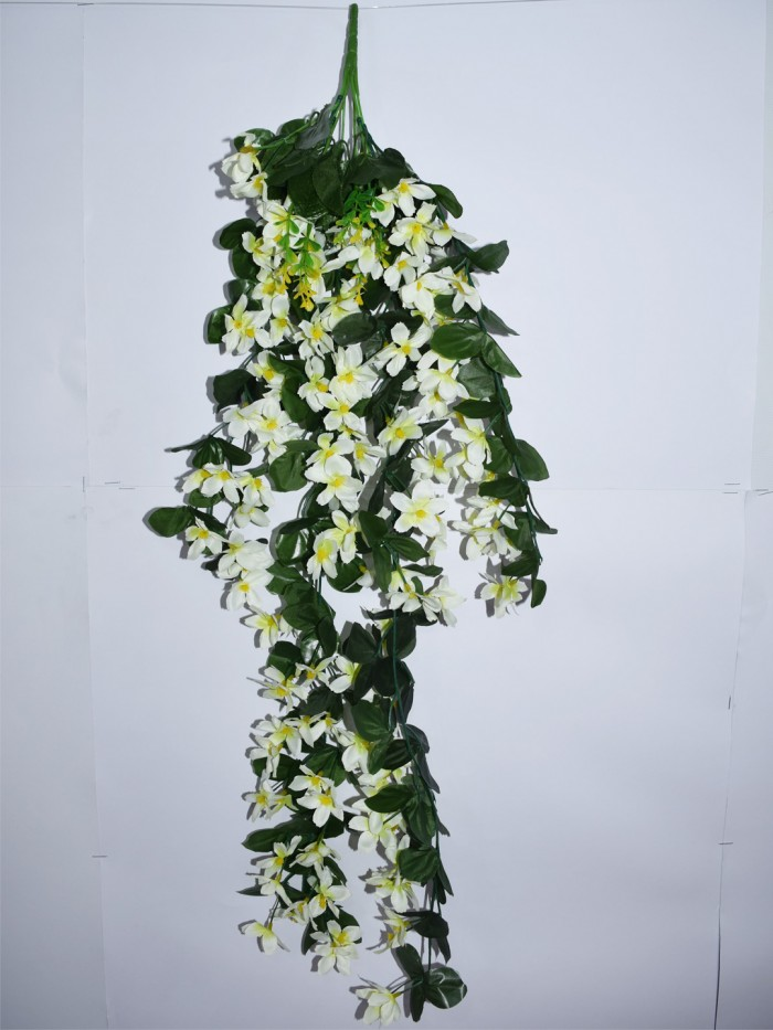 Buy Decorative Artificial Hanging Butterfly Orchid Flower Bush(100 Cm Long, White) Online