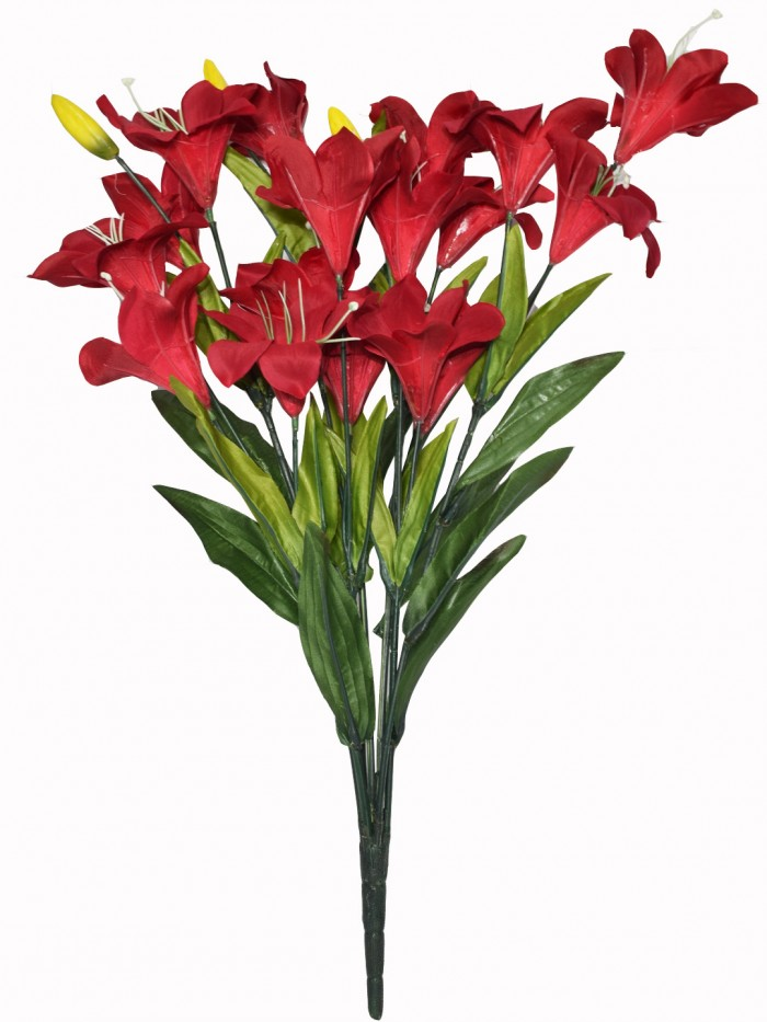 Buy Beautiful Artificial Lily Bunch (60 Cm, Moroon) Online