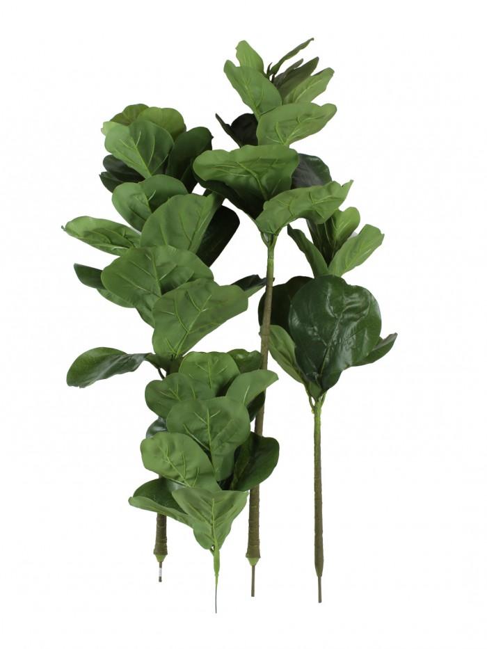 Buy Artificial Fiddle Floor Plant Without Pot (20 Cm X 20 Cm X 120 Cm, Green) Online