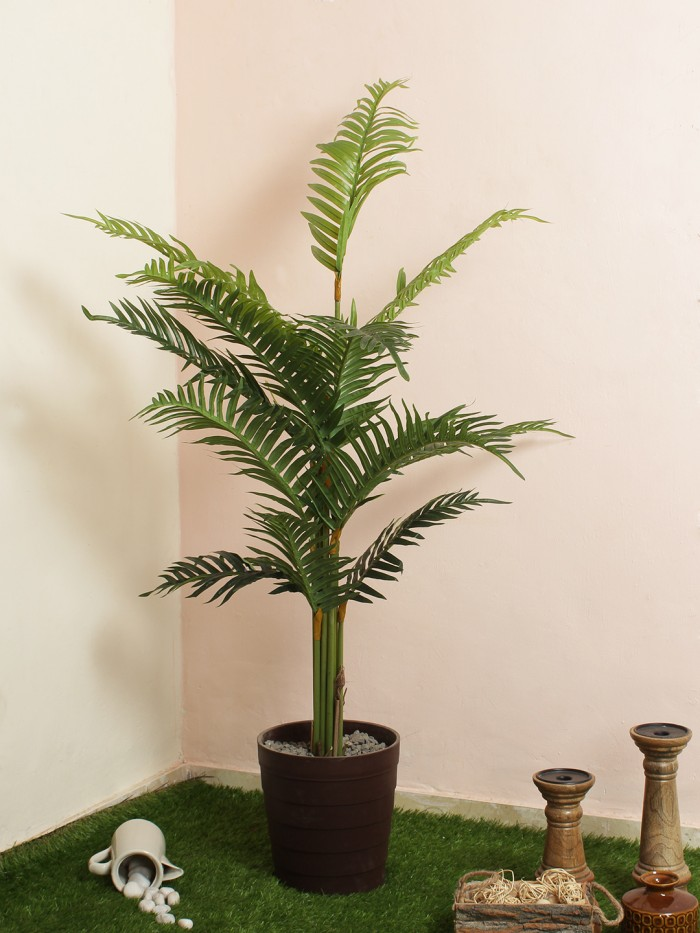 Buy Decorative Artificial Arica Floor Plant Without Pot (130 Cm Tall, Green) Online