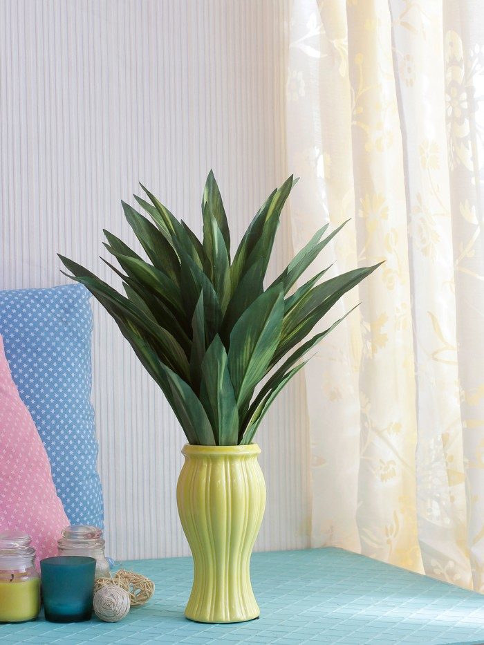 Buy Decorative Artificial Dracaena Bush Without Pot (Green, 46 Cm Tall) Online