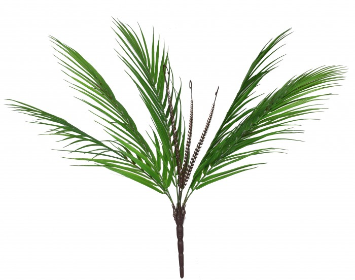 Buy Decorative Artificial Arica Palm Plant (50 Cm Tall, 9 Heads, Green) Online