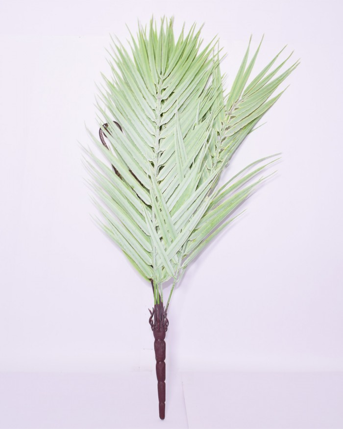 Buy Decorative Artificial Arica Palm Plant (50 Cm Tall, 9 Heads, Green/White) Online