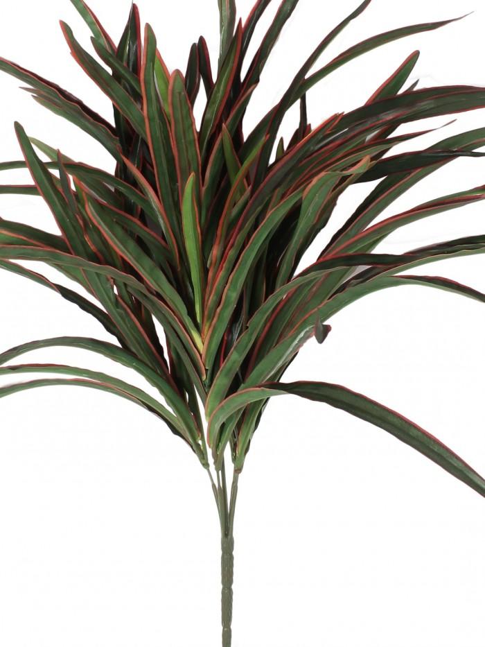 Buy Polyester, Ceramic And Polyurethane Artificial Small Dracaena Bush (10 Cm X 10 Cm X 59 Cm, Green