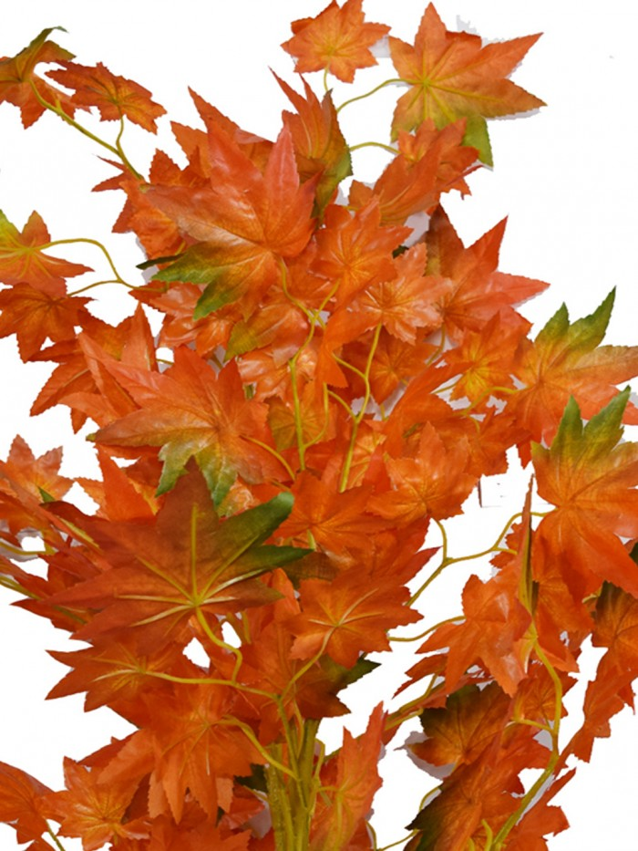 Buy Decorative Artificial Japanese Maple Floor Plant Without Pot (100 Cm Tall, Orange) Online