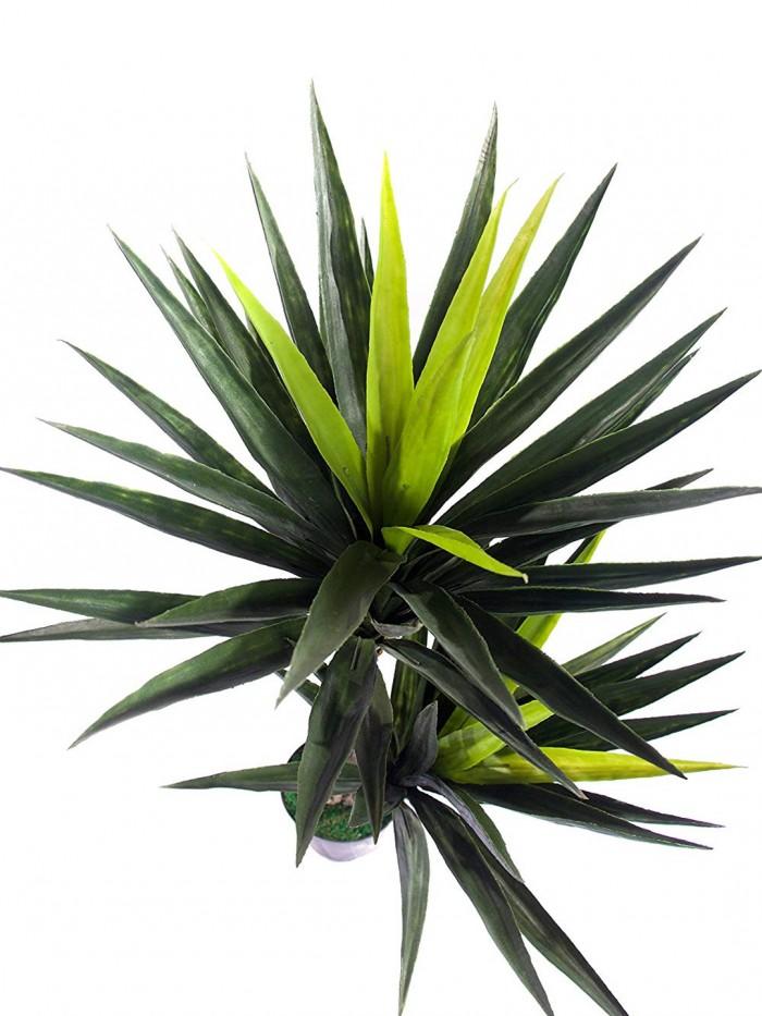 Buy Artificial  Yucca Floor Plant Without Pot (2 Trunks, 125 Cm) Online