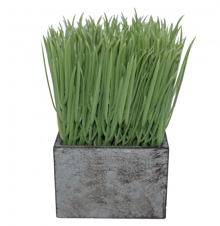 Buy Fourwalls Artificial Grass Plants In A Paper Pulp Vase For Home And Office Décor (18 Cm Tall, G