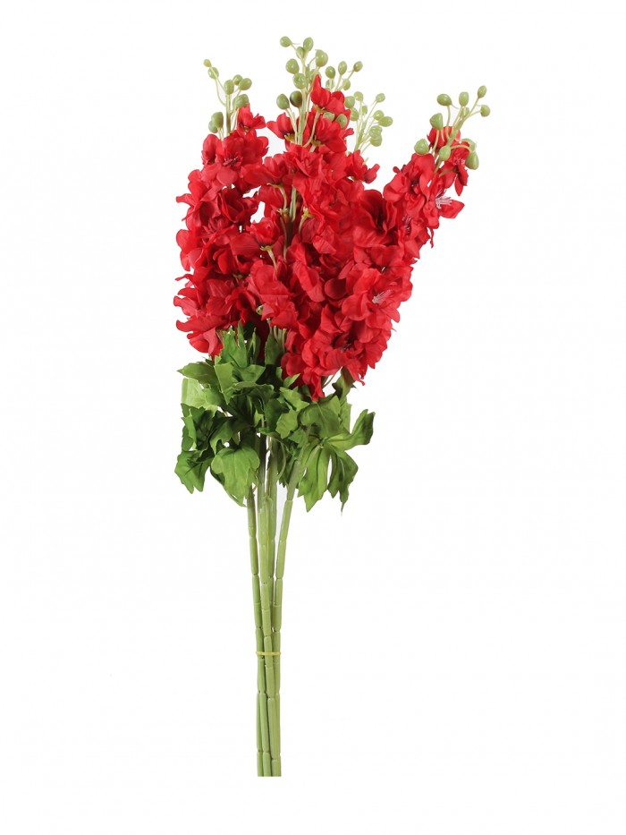Buy Artificial Synthetic Fyanco Flower Sticks (70 Cm Tall, Red, Set Of 3) Online