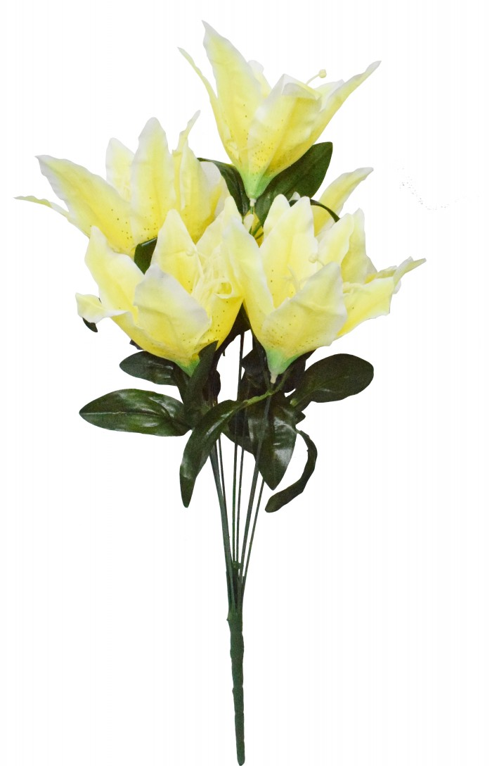 Buy Artificial Decorative Lily Flower Bunches (10 Head Flower, 20 Cm X 20 Cm X 55 Cm, Yellow) Online