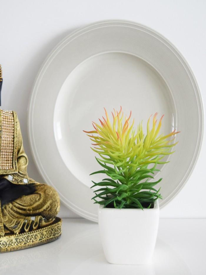 Buy Artificial Hibiscus Flowers In Glazed Ceramic Vase(pink) Online