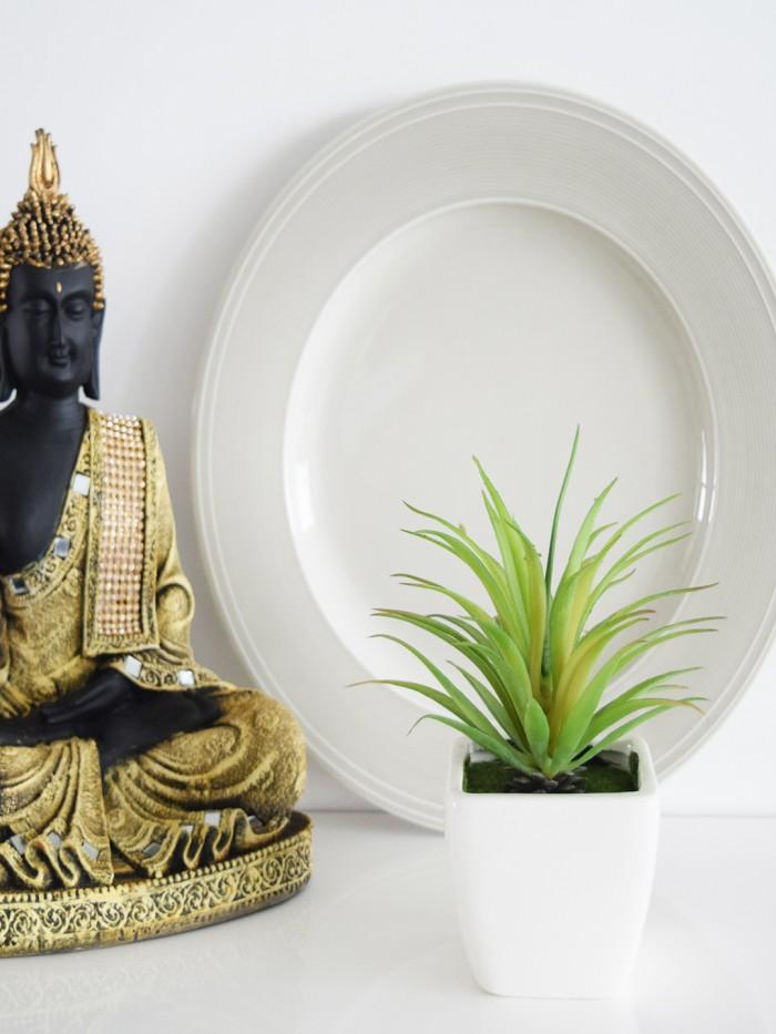 Buy Artificial Mini Succulent Plant In Ceramic Vase(multicolour-N) Online