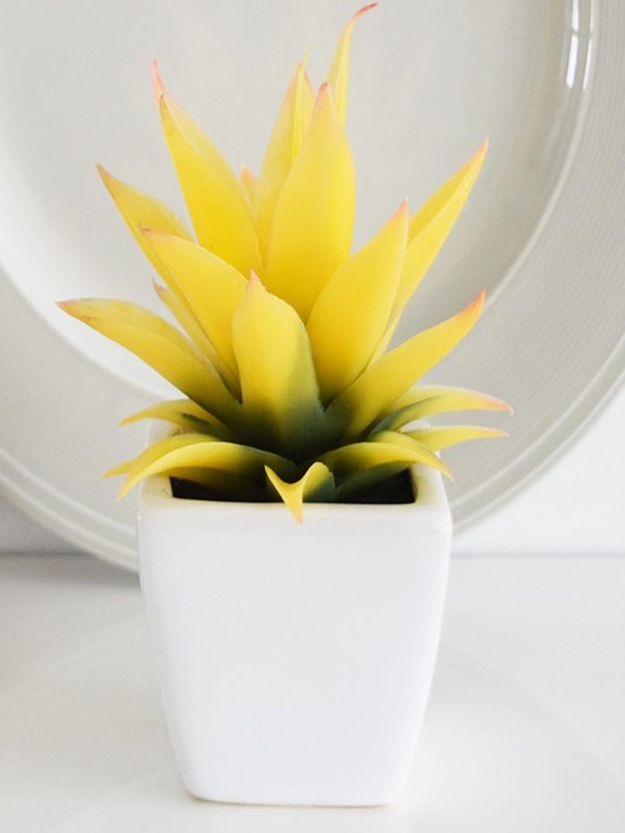 Buy Artificial Mini Succulent Plant In Ceramic Vase(multicolour-J) Online
