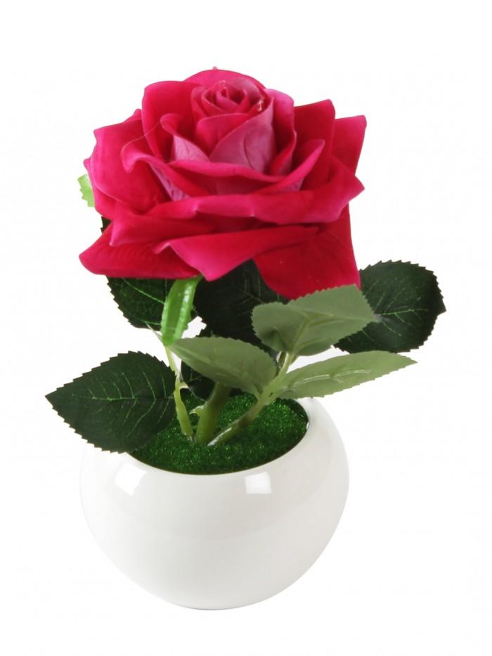 Buy Fourwalls Ceremic Flower Vase In Wooden Frame (14 Cm X 9.1 Cm X 14 Cm, Sliver) Online