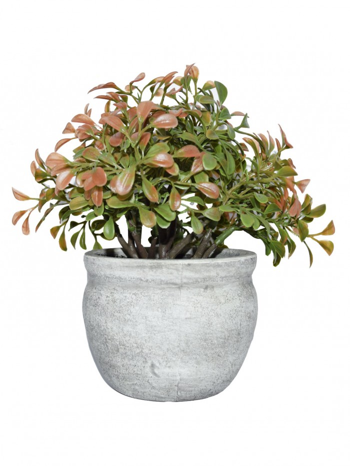 Buy Artificial Topiary Bonsai Plants In A Ceramic Vase For Home D�cor (22 Cm Tall, Red Green) Onli