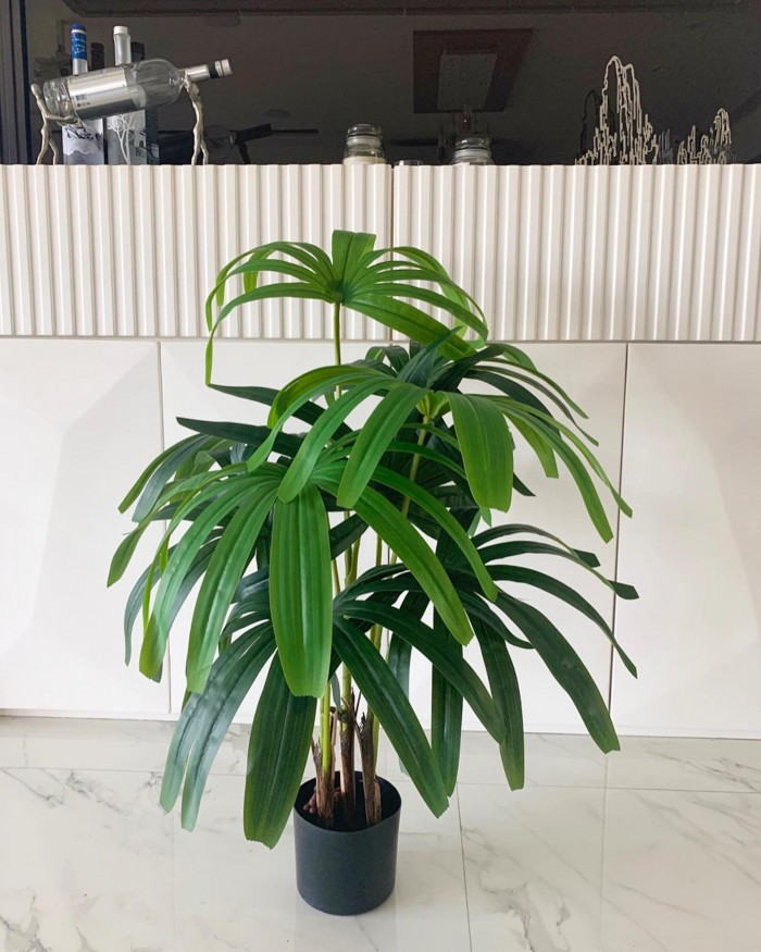 Buy Real Touch Rhapis Artificial Plant With Pot - 3.2 Feet Online