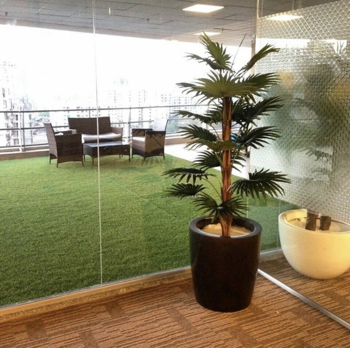 Buy Decorative Artificial Palm Floor Plant Without Pot (18 Branches, 120 Cm Tall) Online