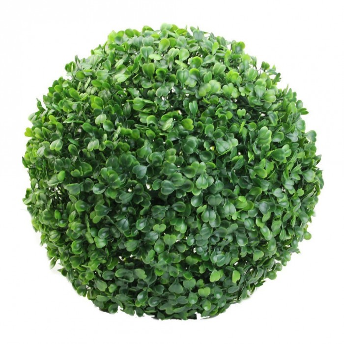 Buy Fourwalls PVC Plastic Artificial Eucalyptus Boxwood Topiary Grass Ball (23 Cm Total Diameter, Gr