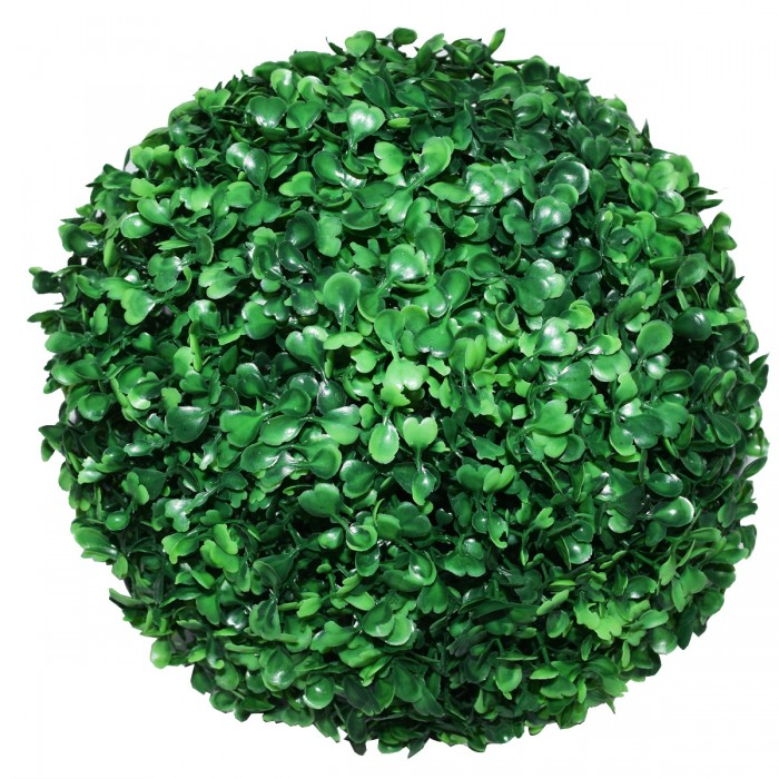Buy Fourwalls PVC Plastic Artificial Eucalyptus Boxwood Topiary Grass Ball (28 Cm Total Diameter, Gr