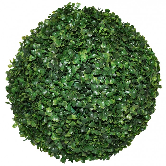 Buy Fourwalls PVC Plastic Artificial Eucalyptus Boxwood Topiary Grass Ball (38 Cm Total Diameter, Gr