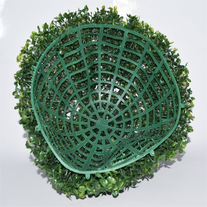 Buy Fourwalls PVC Plastic Artificial Eucalyptus Boxwood Topiary Grass Ball (38 Cm Total Diameter, Gr