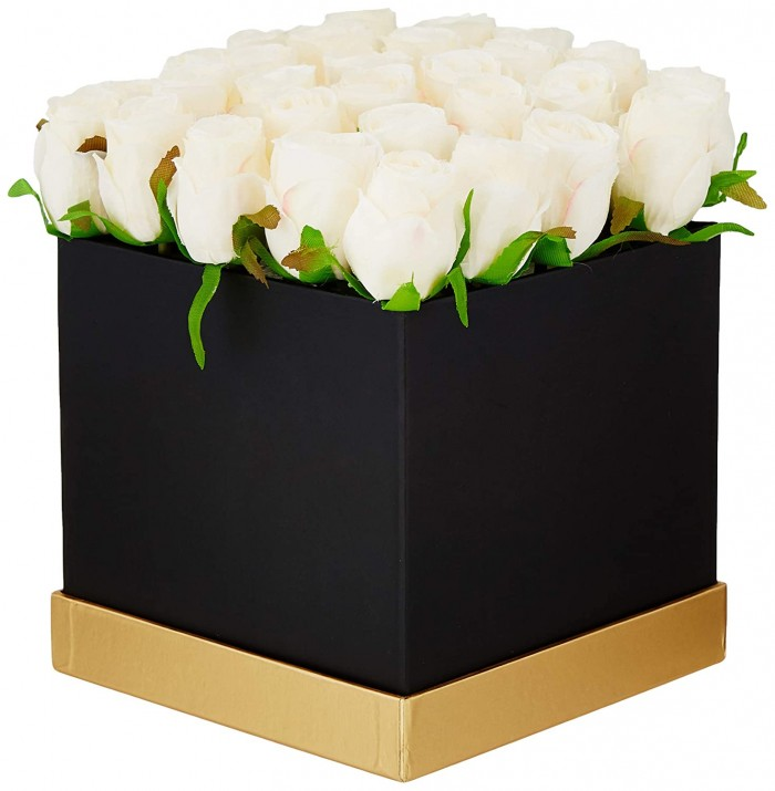 Buy Fourwalls Artificial Rose Flowers In A Box For Valentines Day Gift (25 Flower In Box, 20 Cm Tall