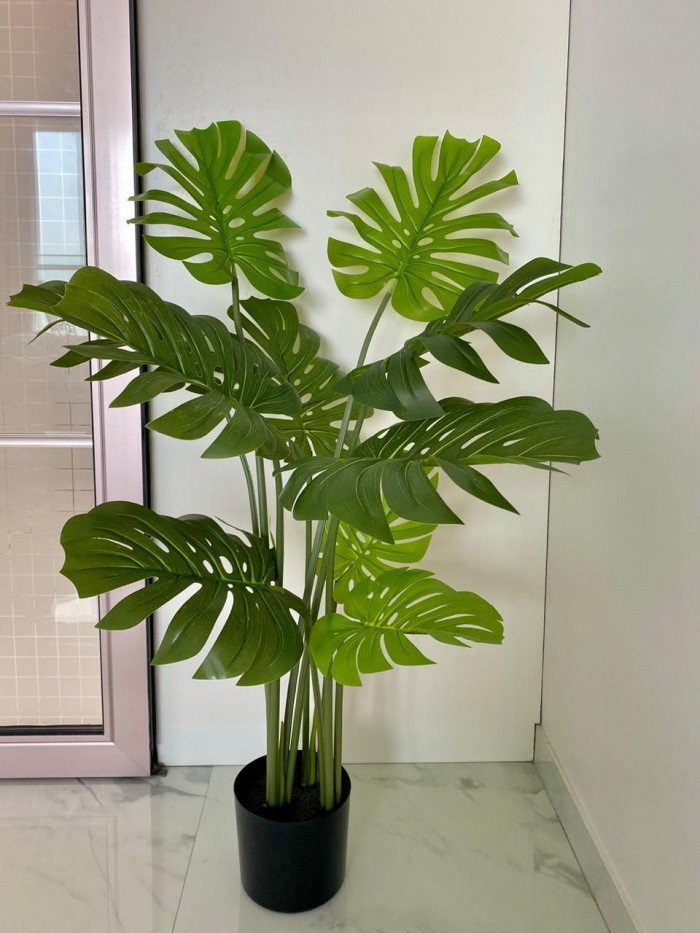 Buy Artificial Monstera Plant With Pot - 4 Feet Online