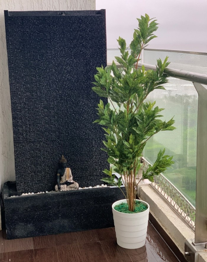 Buy Artificial Croton Plant Without Pot : 5 feet tall Online