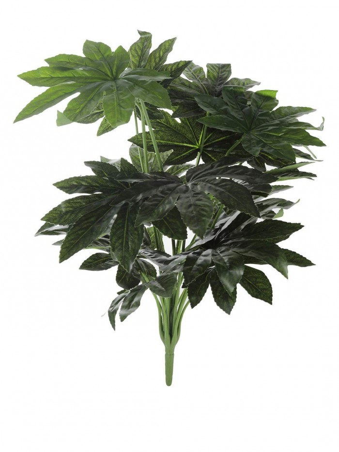 Buy Artificial PVC Maple Plant Without Pot (60 Cm Tall, Orange, 11 Branches) Online