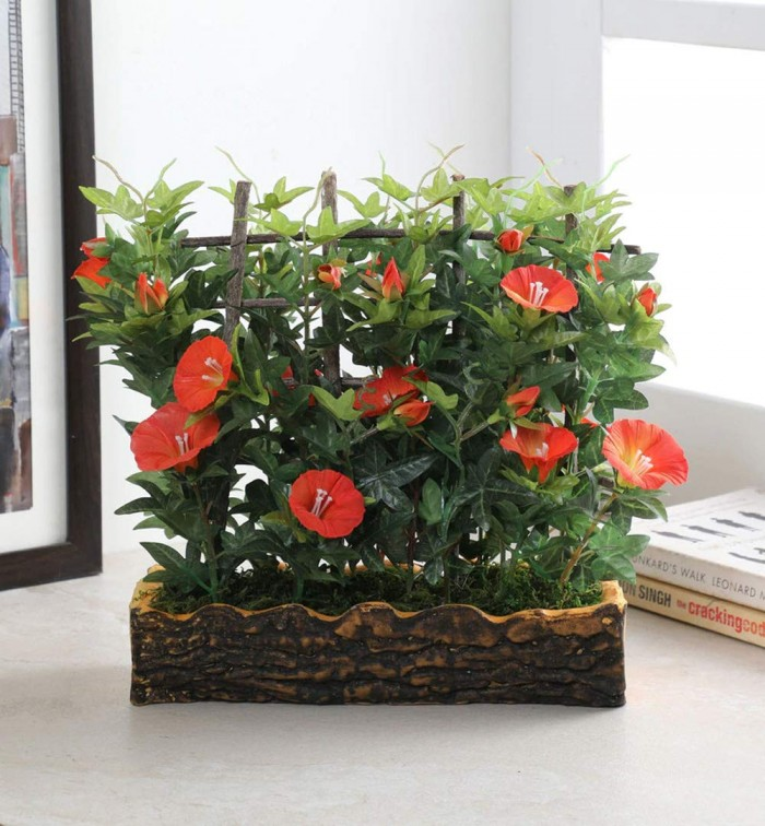 Buy Artificial Morning Glory Plant in a light weighted PU pot (11